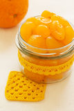 Candied kumquat. Candied citrus fruits. Stock Image