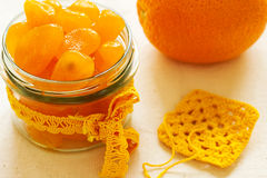 Candied kumquat. Candied citrus fruits. Royalty Free Stock Images