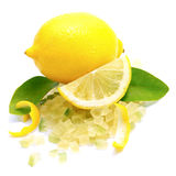 Candied lemon peel. Isolated on white ground Royalty Free Stock Images