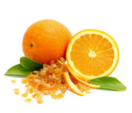 candied orange peel royaltyfri foto