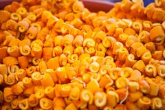 Candied orange peel royaltyfria bilder