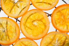 candied orange skivor Royaltyfria Bilder