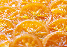 candied orange skivor Royaltyfri Foto