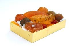 Candied owoc w pudełku obrazy royalty free