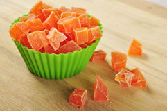 Candied papaya Royalty Free Stock Photos