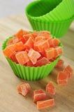 Candied papaya stock image