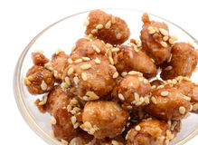 Candied pecan nuts sugared mediterranean Stock Image