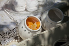 Candied pomarańcze Zdjęcia Royalty Free