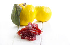 Candied quince marmalade slices Stock Images