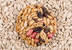 Candied roasted peanuts sunflower seeds. Stock Photos
