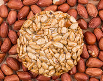 Candied roasted peanuts sunflower seeds. Royalty Free Stock Images