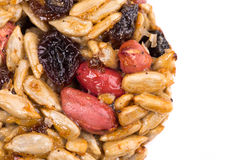 Candied roasted peanuts sunflower seeds. Stock Photo