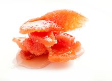 Candied segment of quince in jam Stock Photo