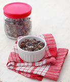 Candied strawberry in a bowl (Kiev dry jam) Stock Photos