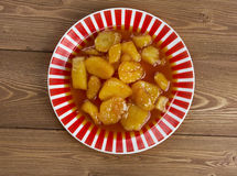 Candied Sweet Potatoes Royalty Free Stock Photos