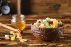 candied torkade frukter Arkivfoto