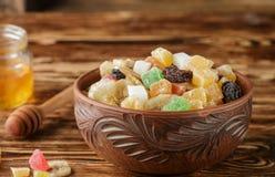 candied torkade frukter Arkivfoton