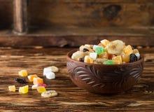 candied torkade frukter Arkivbilder