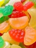 Candies. Mixed fruit shaped and flavored candies Royalty Free Stock Photos