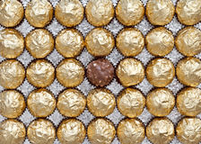 Candies. Set of wrapped chocolate candies royalty free stock photo