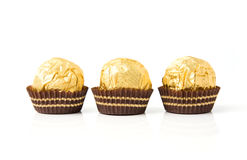 Candies. An image of candies  in golden wrapping Royalty Free Stock Image