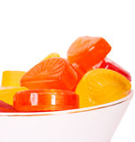 Candies. In a bowl isolated on white background Royalty Free Stock Photography