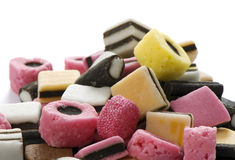 Candies. Pile of candies close up Stock Photos