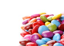 Candies. Colorful chocolate candies on white background Stock Photos