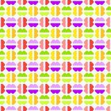 Candies abstract  seamless geometric pattern Stock Photo