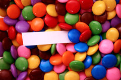 Candies (add your message). Assorted candies with a message - add your text Royalty Free Stock Image