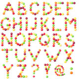 Candies alphabet Royalty Free Stock Image