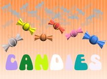Candies background Royalty Free Stock Photo