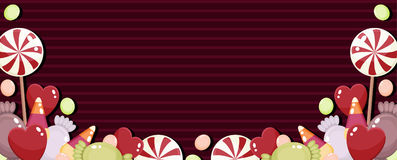 Candies banner Stock Image