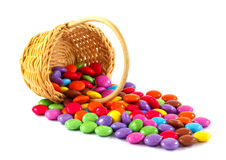 Candies in  a basket Stock Images