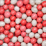 Candies bi-color background. Background made of red and white candies royalty free stock photos