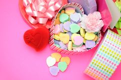 Candies in box Royalty Free Stock Image