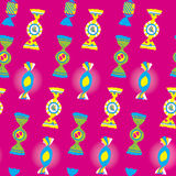 Candies Bright Seamless Pattern Royalty Free Stock Photo