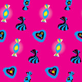 Candies Bright Seamless Pattern Stock Photo