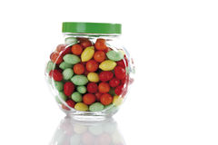 Candies in candy jar Royalty Free Stock Photos