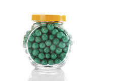 Candies in candy jar Royalty Free Stock Images