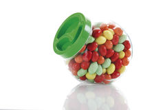 Candies in candy jar Stock Photos
