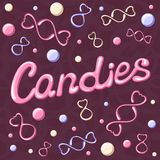 Candies card Stock Photography