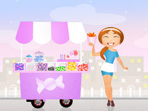 Candies cart Royalty Free Stock Image