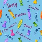 Candies celebration design. Sweet candies celebration design pattern Royalty Free Stock Images