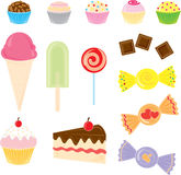 Candies Collection. Many sweets for your party Royalty Free Stock Photo