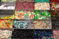 Candies and Colored sweets at market Royalty Free Stock Photo