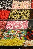 Candies and Colored sweets at market Royalty Free Stock Image