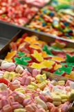 Candies and Colored sweets at market Stock Image