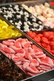 Candies and Colored sweets at market Stock Photo