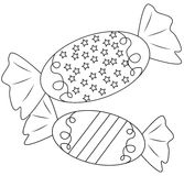 Candies coloring page Royalty Free Stock Photos